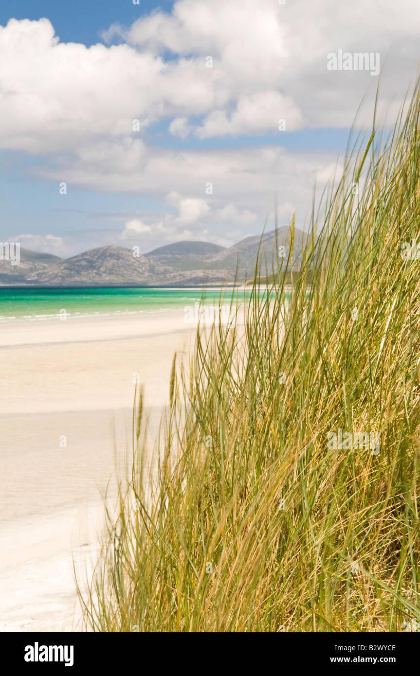 Dunes at Seilebost beach, Isle of Harris, Hebrides, Scotland, UK - Stock Image