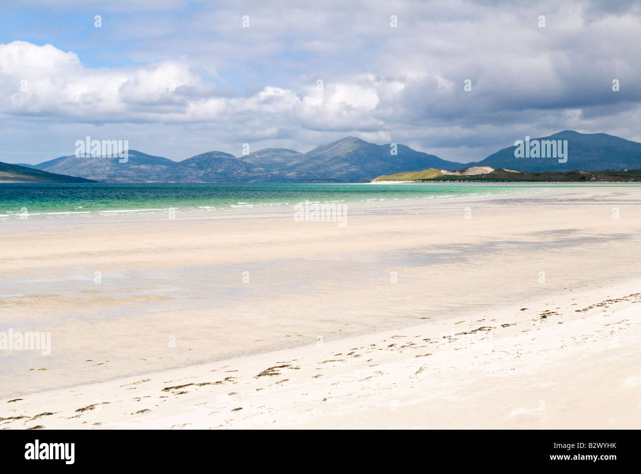Sand pattern on Seilebost beach, Isle of Harris, Hebrides, Scotland, UK - Stock Image