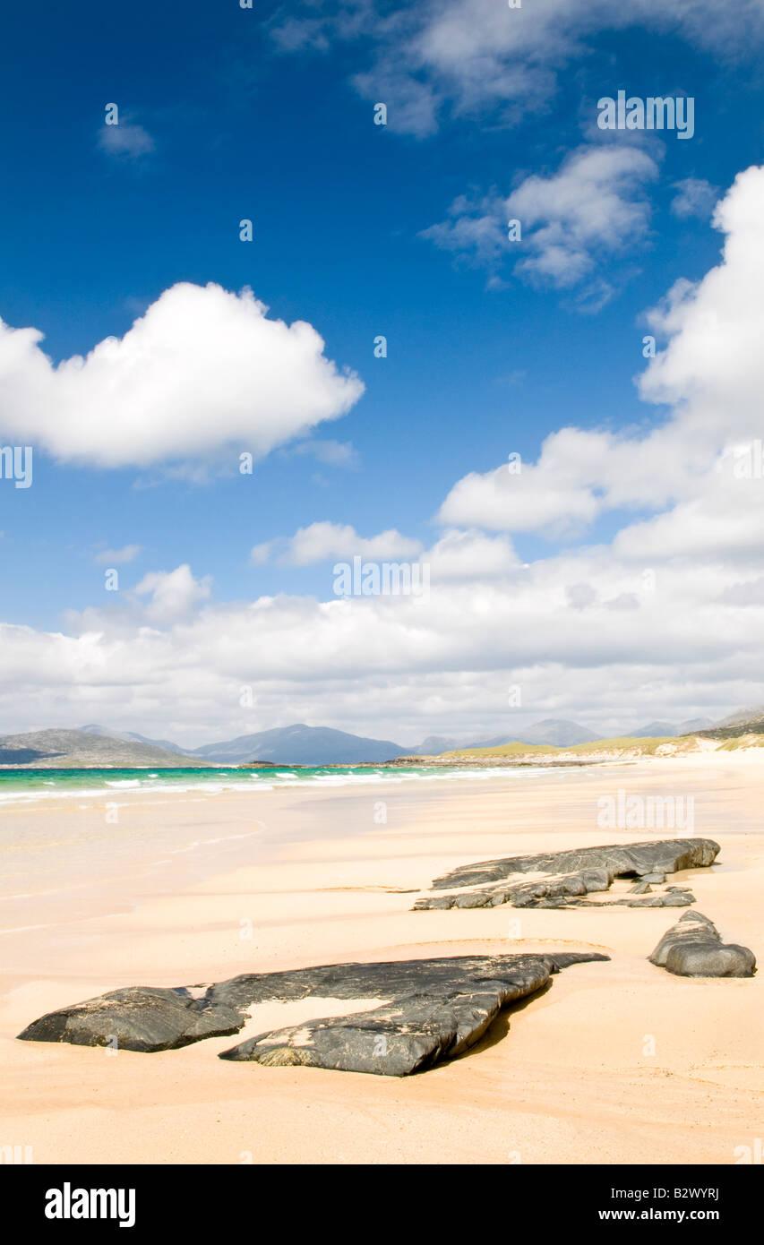 Borve beach, Isle of Harris, Hebrides, Scotland, UK - Stock Image