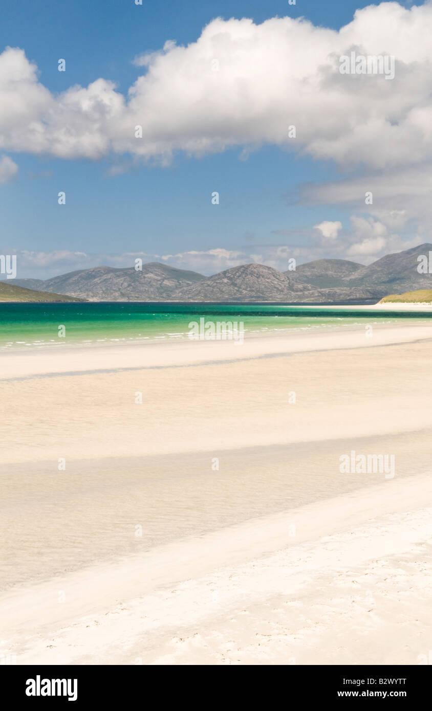 Sand patterns on Seilebost beach, Isle of Harris, Hebrides, Scotland, UK - Stock Image