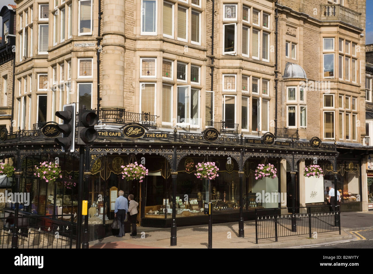 Betty's famous cafe and traditional tearooms in town centre. Harrogate North Yorkshire England UK Stock Photo