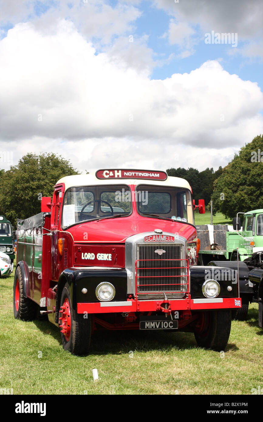 A vintage Scammell lorry at the Cromford Steam Engine Rally 2008 - Stock Image