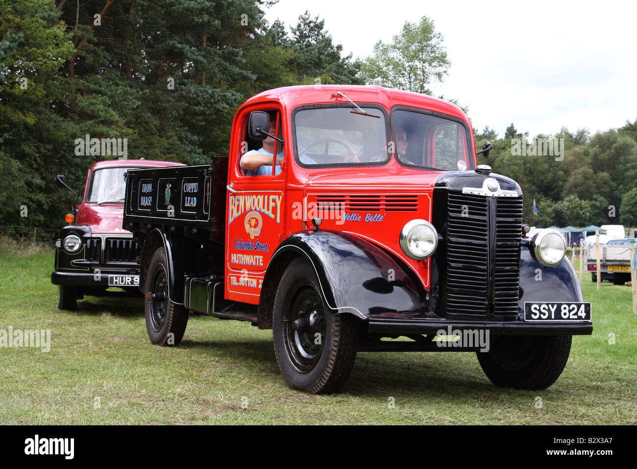 A vintage Bedford lorry at the Cromford Steam Engine Rally 2008 - Stock Image