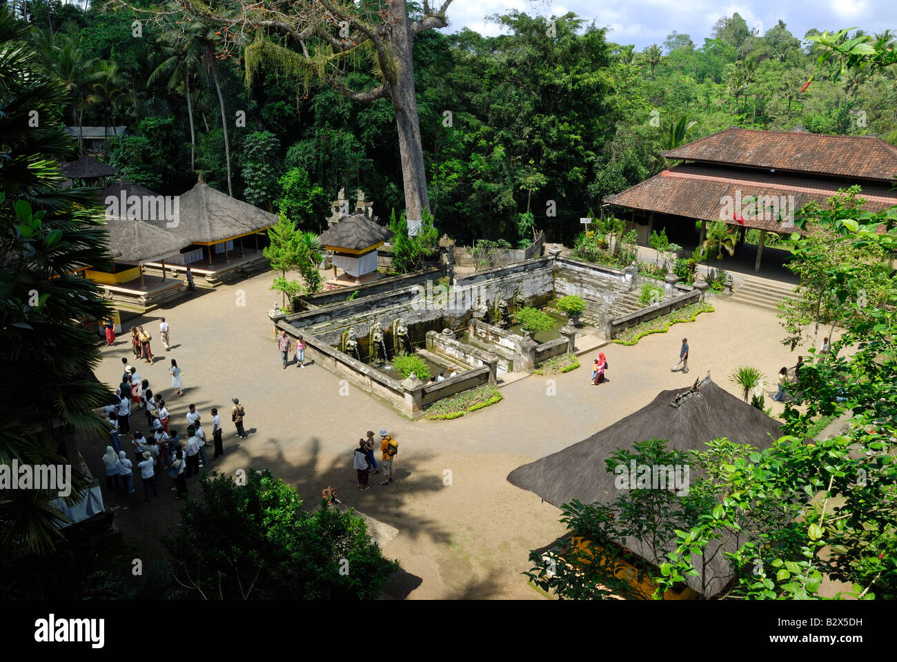 bathing place of the nymphs, ELEPHANT CAVE, Goa Gajah, Bali, Indonesia, Asia - Stock Image