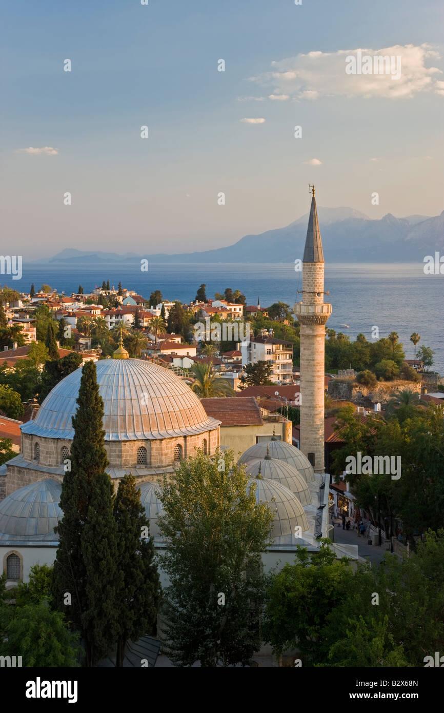 Tekeli Mehmet Pasa Mosque, in the historic district of Kaleici, Antalya, Turkey - Stock Image