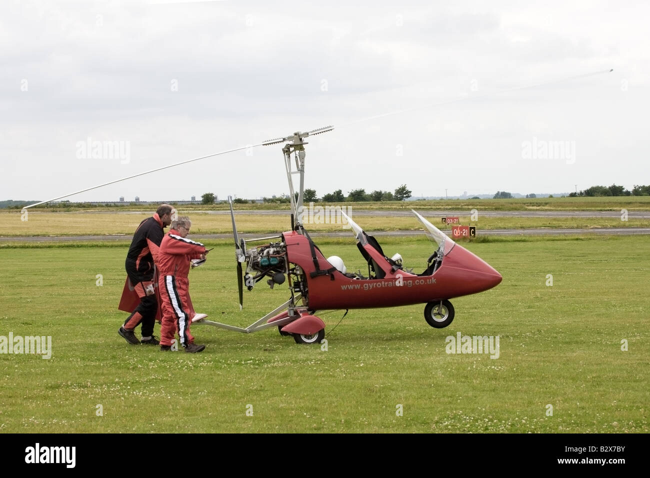 Rotorsport UK MT-03 Gyroplane G-CDZZ being parked at ...