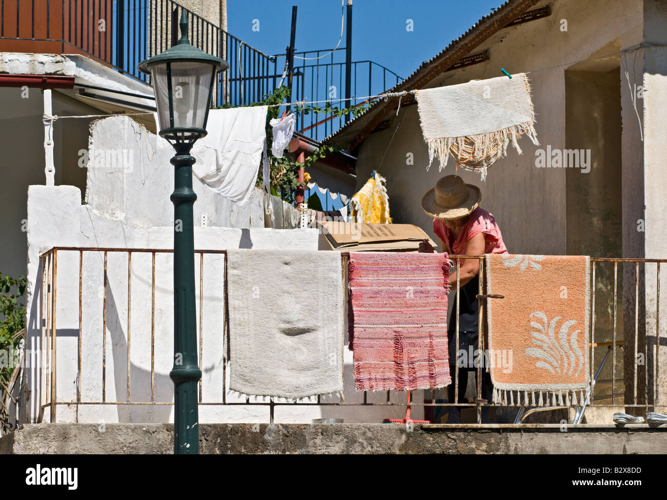 Spring cleaning in Sami eastern Cephallonia Greece - Stock Image
