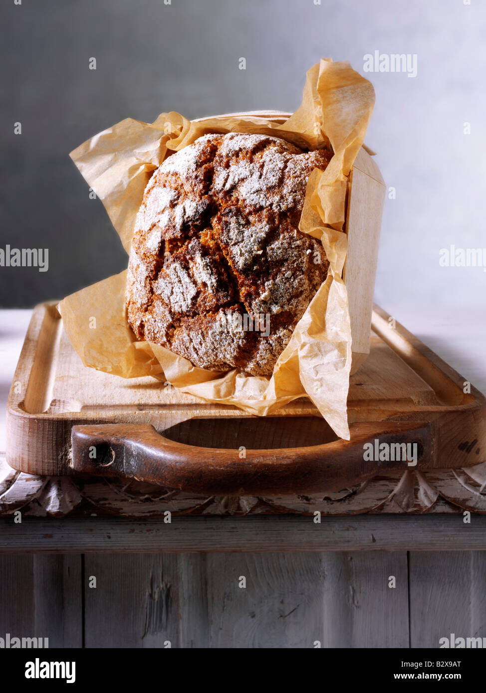 Yorkshire Cobble bread loaf - Stock Image
