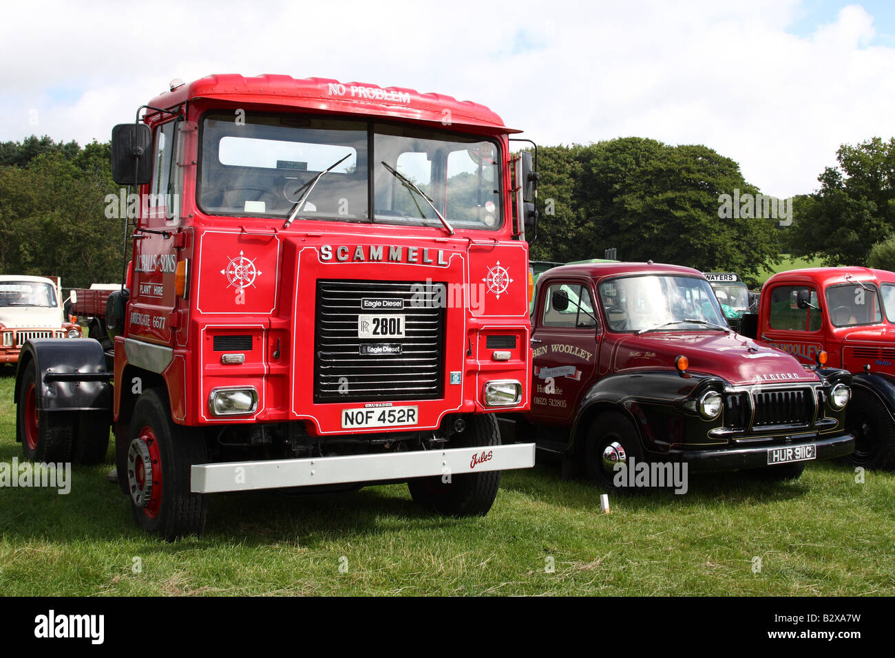 A vintage 1977-1978 Scammell lorry at the Cromford Steam Engine Rally 2008. - Stock Image
