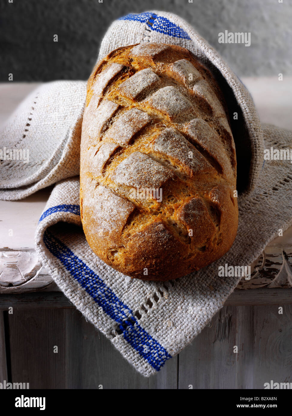 Sour Dough Bread loaf - Stock Image