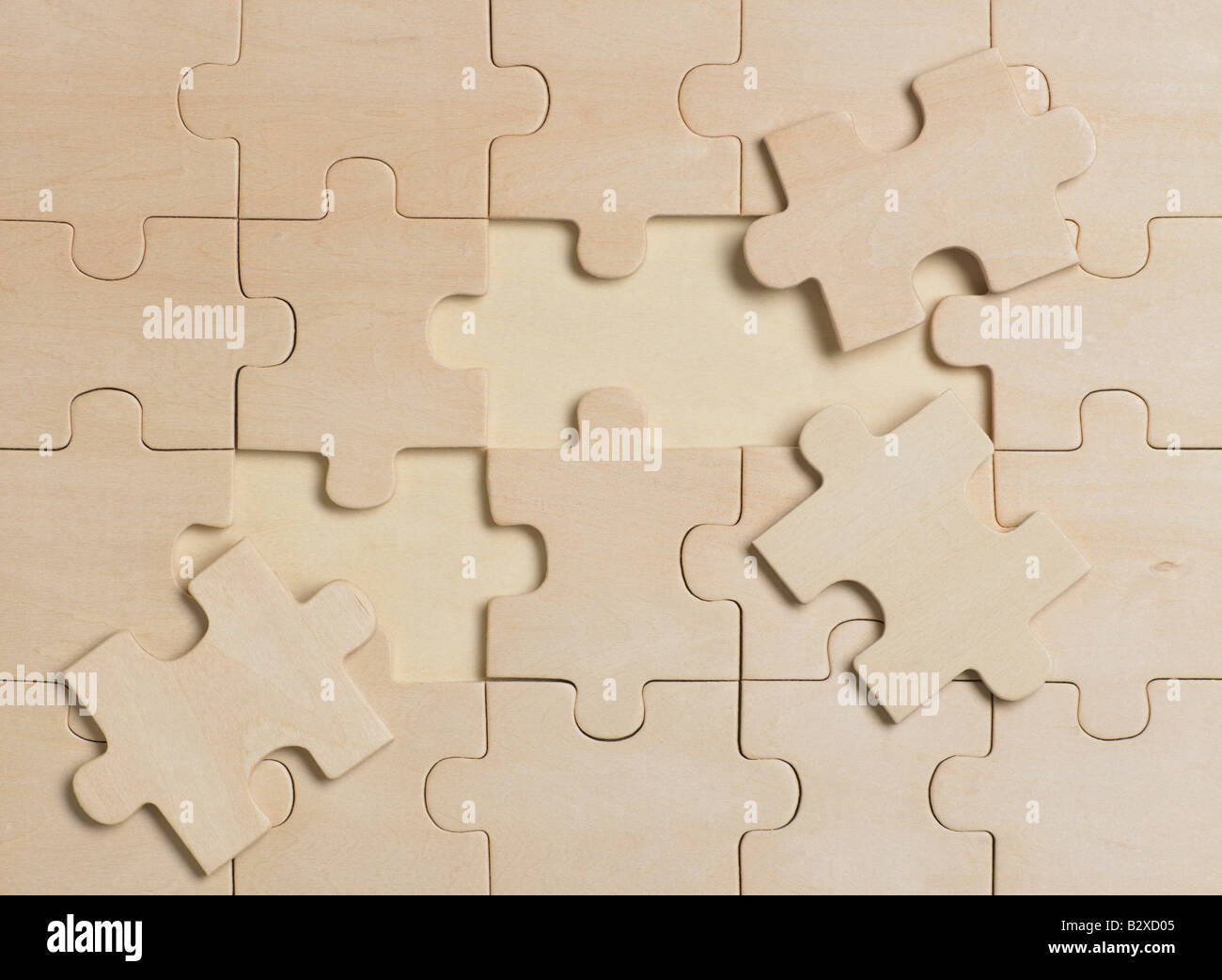 wooden jigsaw puzzle - Stock Image