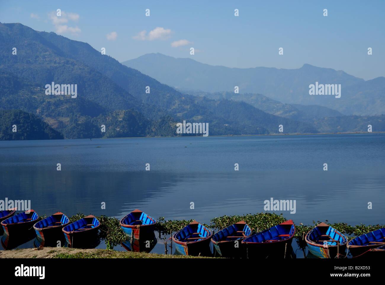Fewa lake ,Pokhara,Nepal - Stock Image