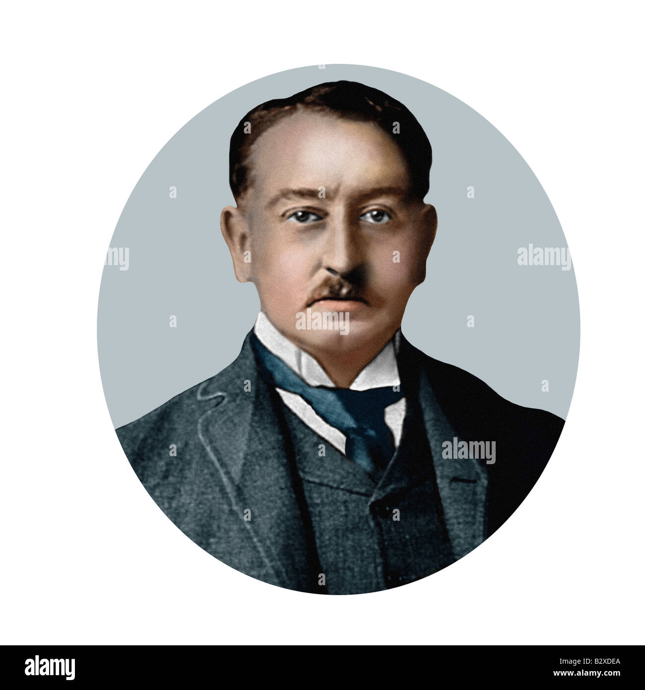 Cecil Rhodes 1853 1902 South African Statesman Modern Illustration from a Cigarette Card - Stock Image