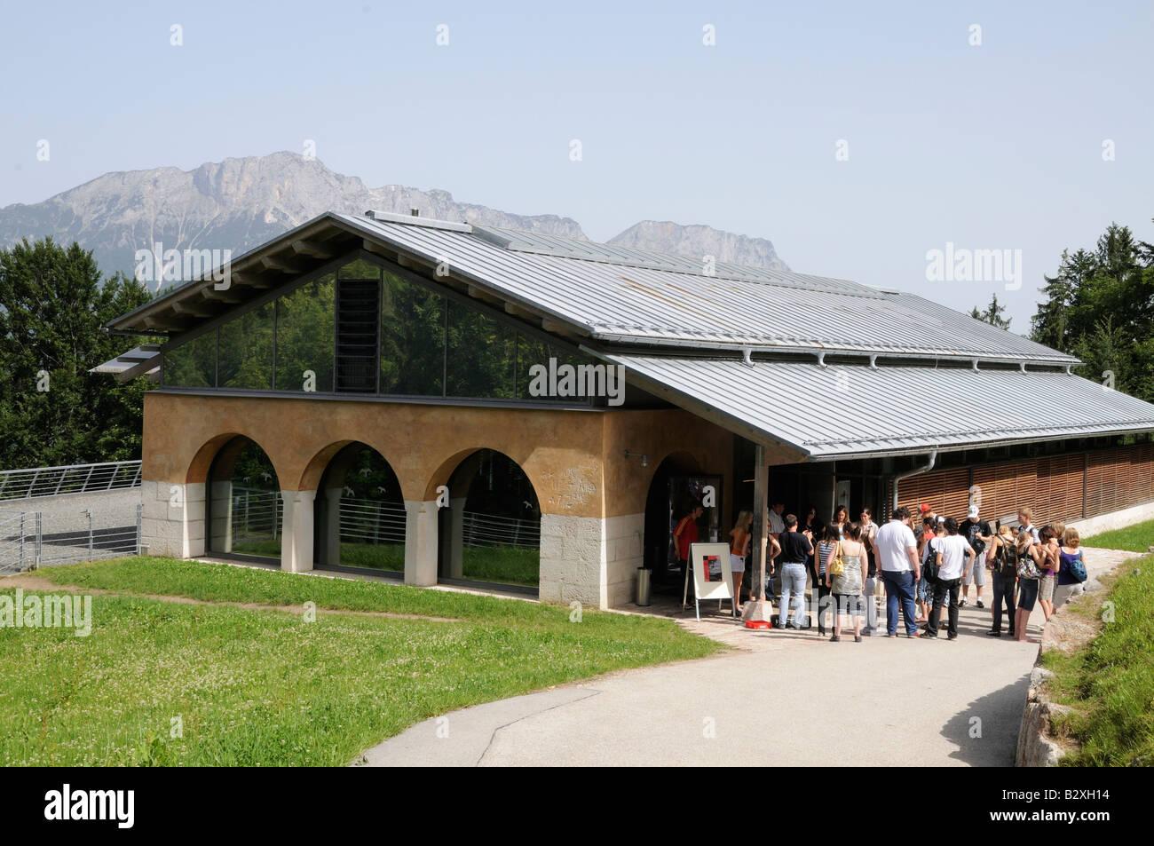 Museum erected on site of Hitlers Berghof mountain retreat, Obersalzberg, Bavaria, Germany - Stock Image