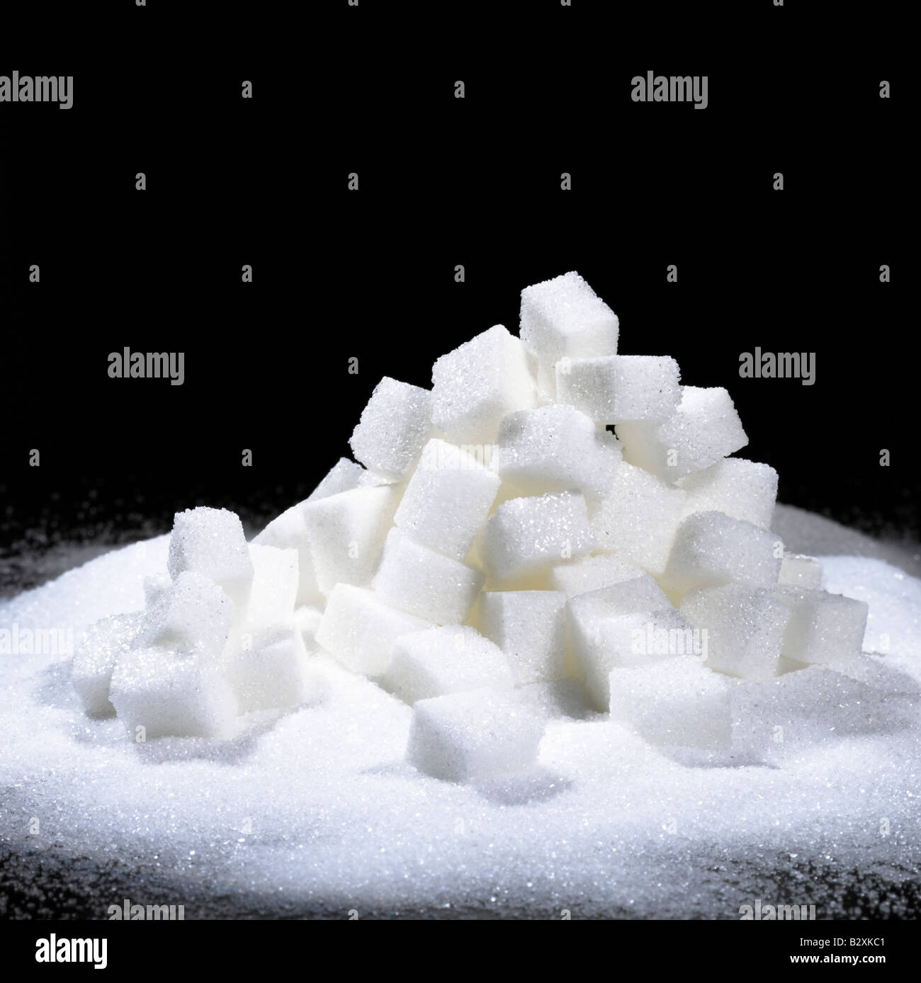 a pile of sugar cubes Germany - Stock Image