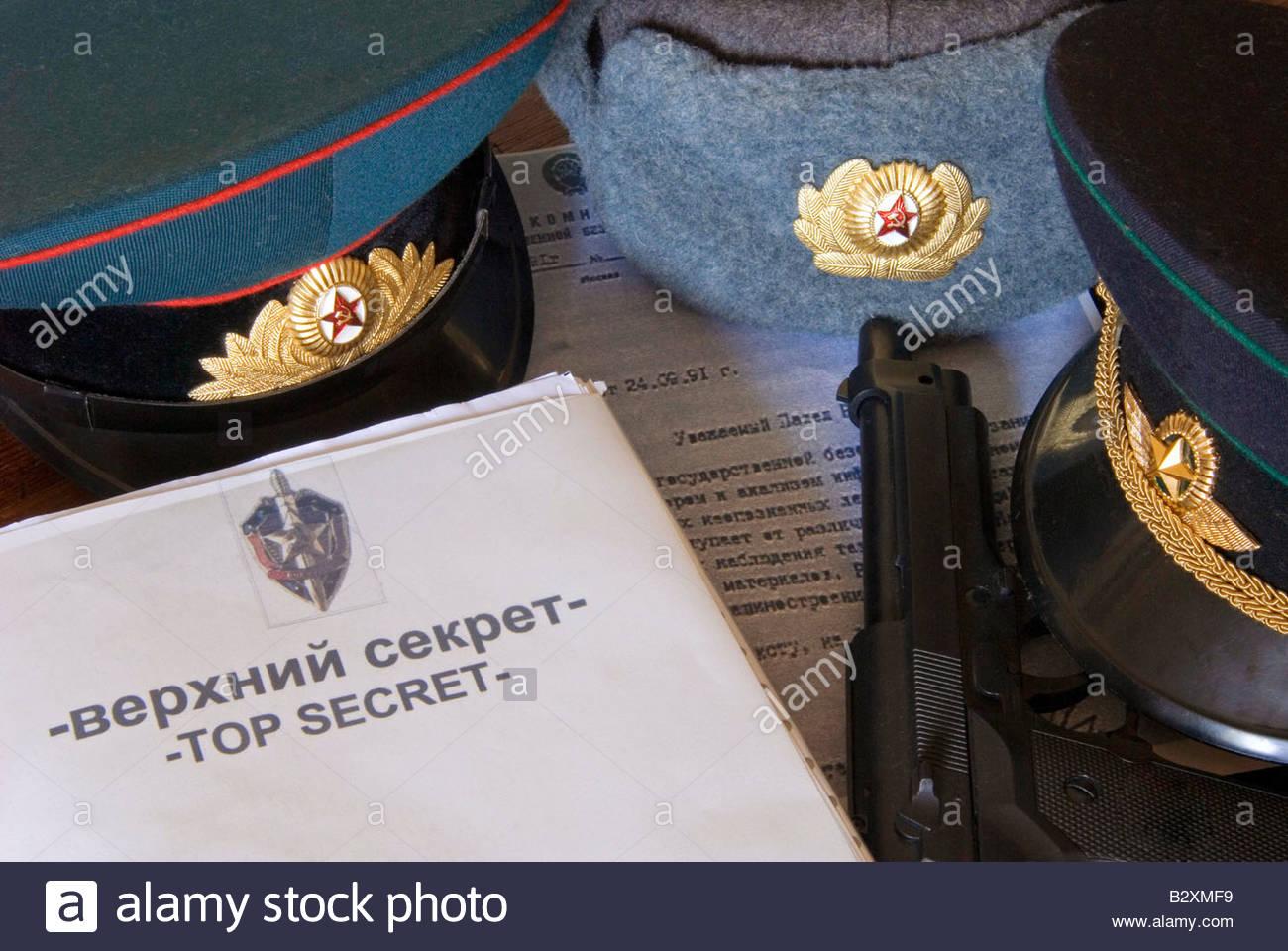 kgb, top secret - Stock Image