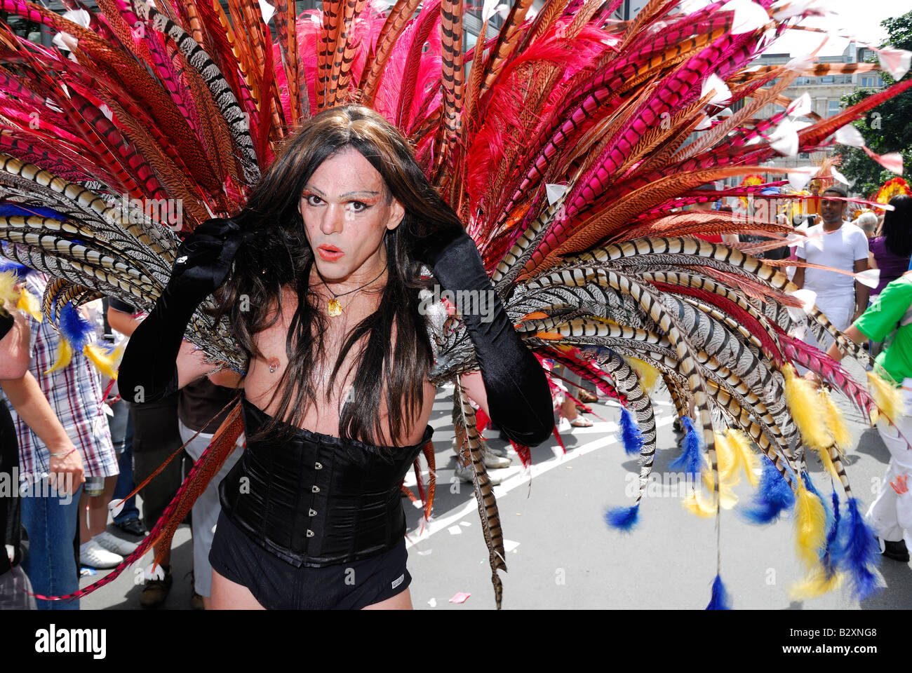 Christopher Street Day gay parade in Cologne, Germany - Stock Image