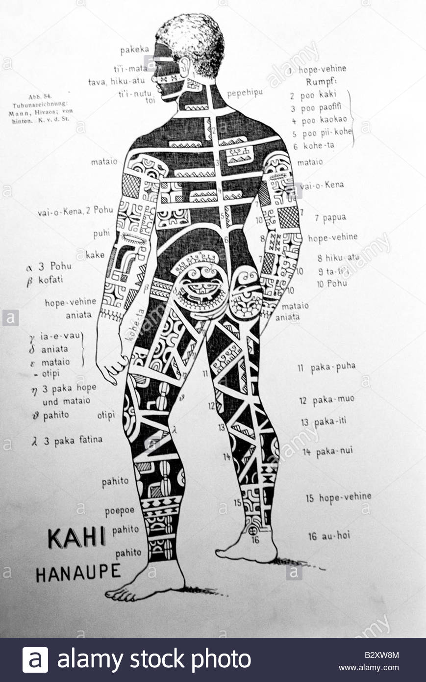 Polynesian Tattoo Black And White Stock Photos Images Alamy Blank Human Body Diagram Tahiti Papeete Drawing Image