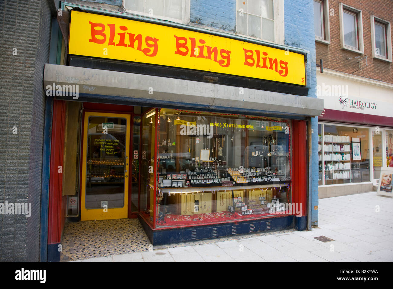 Bling Bling Bling a jewellery shop in Margate Kent - Stock Image