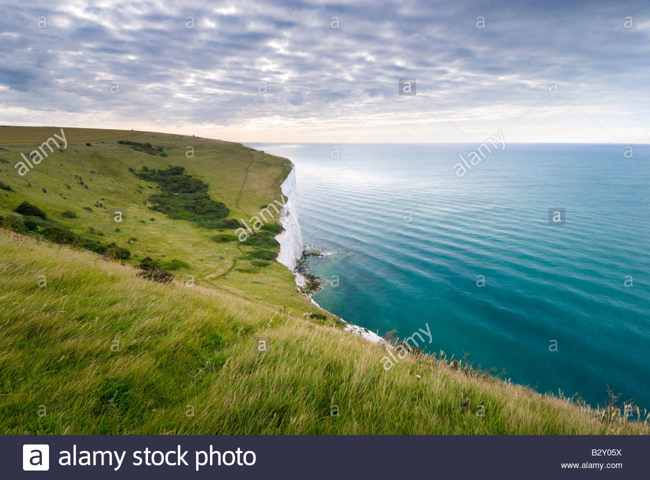 The White Cliffs of Dover, Kent, England, UK. - Stock Image
