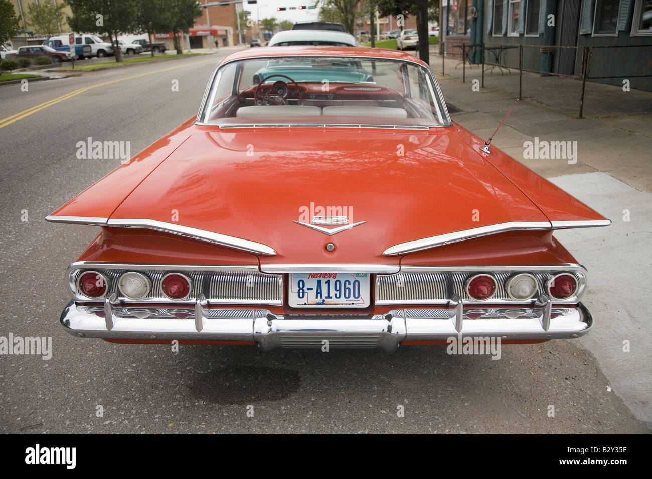 1960 Restored Red Chevy Impala Grand Island Nebraska Stock Photo