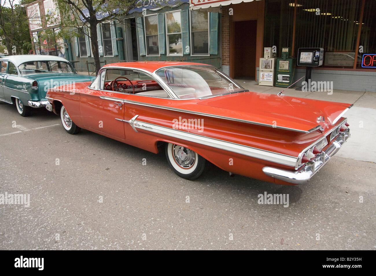 1961 Chevy Impala Stock Photos Images Alamy Ss Restored Red Grand Island Nebraska Image