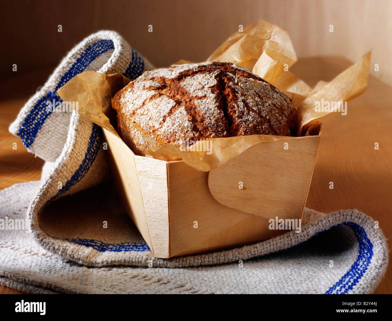 Loaf of artisan Deli Rye loaf of bread - Stock Image