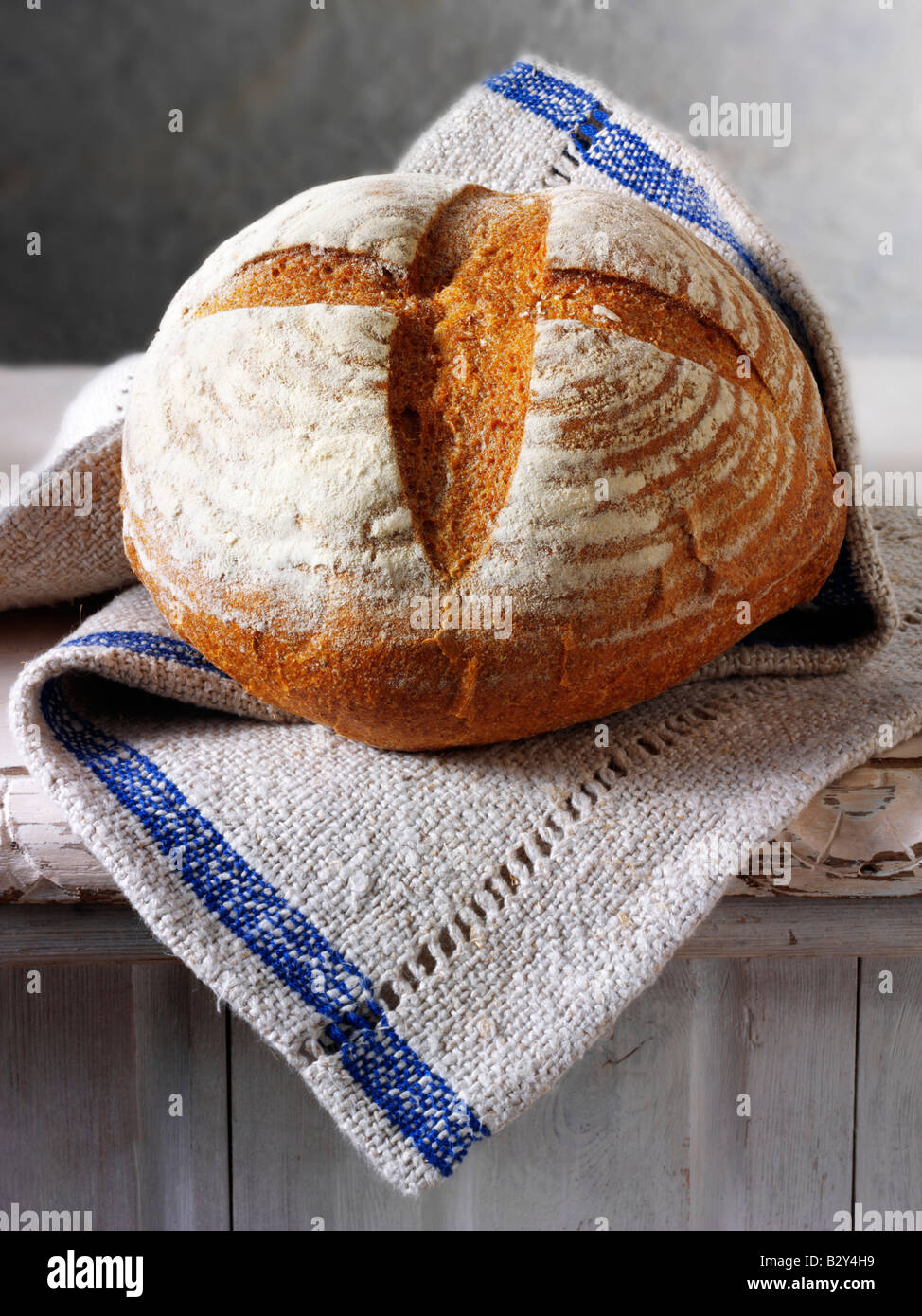 English Rye bread loaf - Stock Image