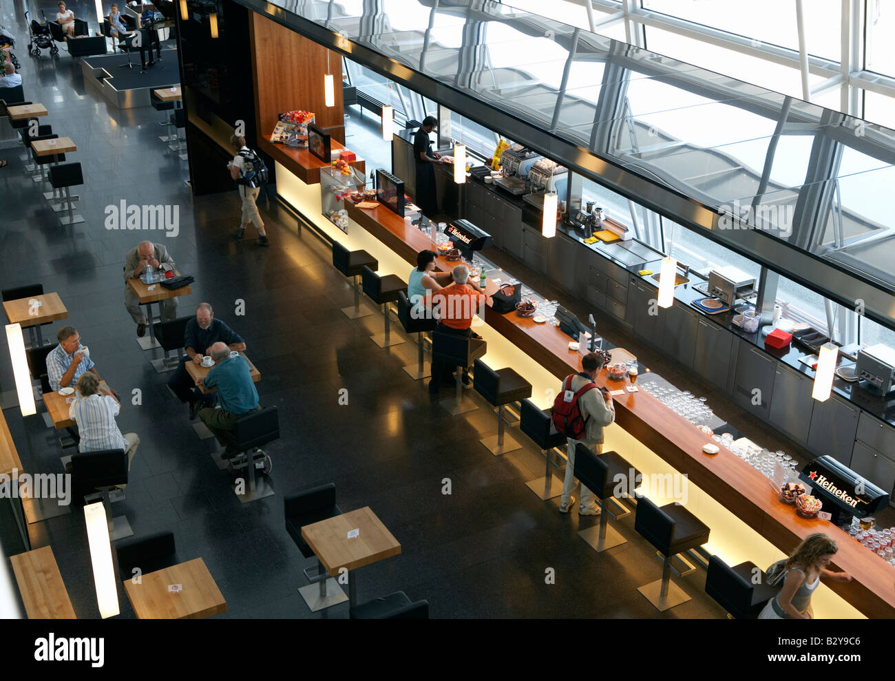 Coffee bar at the Airside Center of the airport in Kloten, Zuerich, Switzerland - Stock Image
