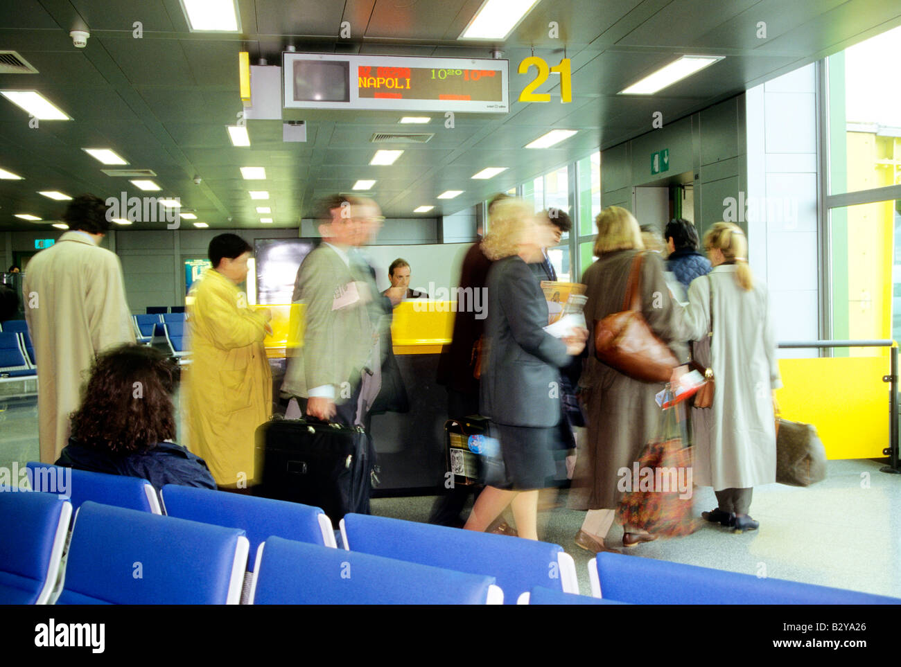 italy, milan, linate airport - Stock Image