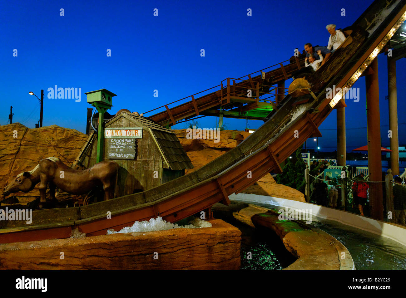 Amusement ride at the boardwalk Ocean City New Jersey USA - Stock Image