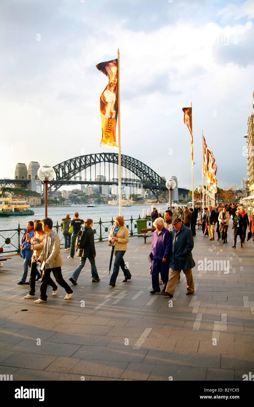 People at Circular Quay Sydney - Stock Image