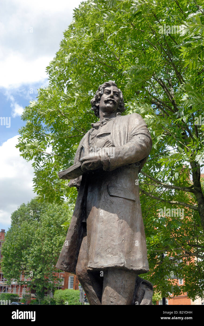 Statue of James McNeill Whistler, Chelsea, London - Stock Image