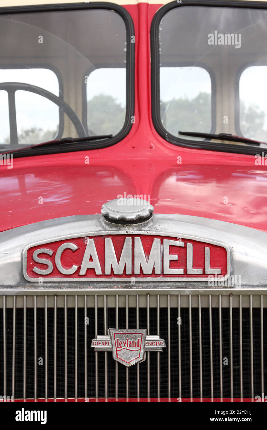 A vintage Scammell lorry at the Cromford Steam Engine Rally 2008. - Stock Image