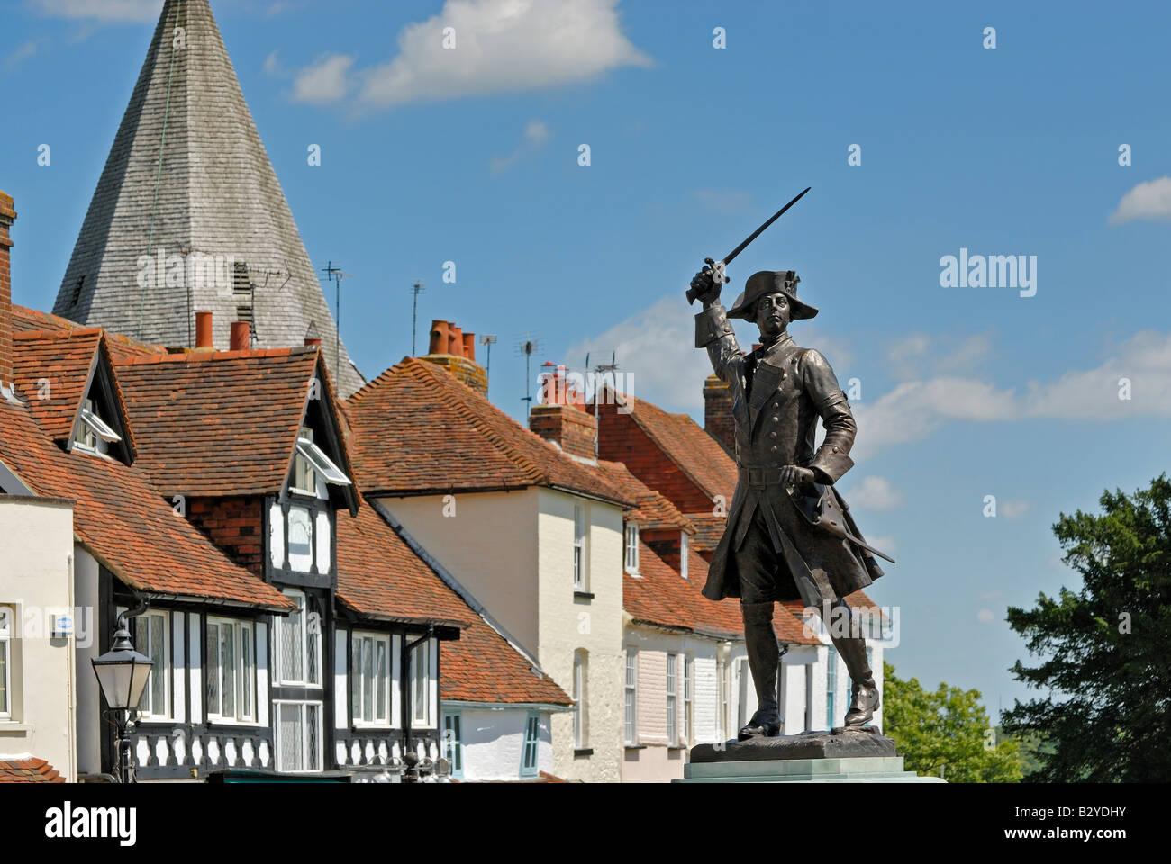 Statue of James Wolfe, Westerham, Kent - Stock Image