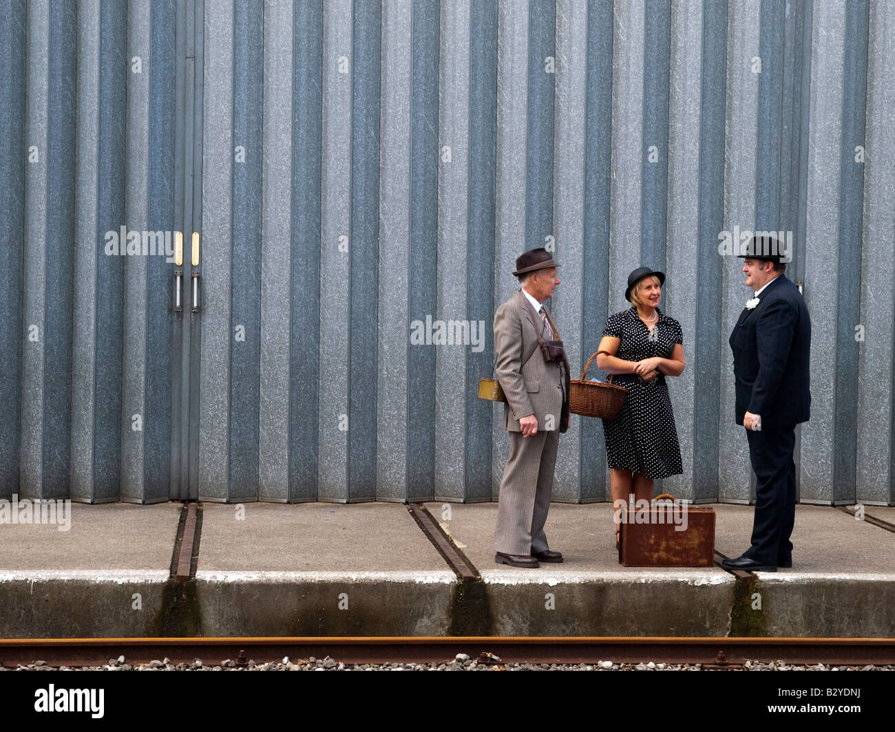 Long wait for the train. - Stock Image