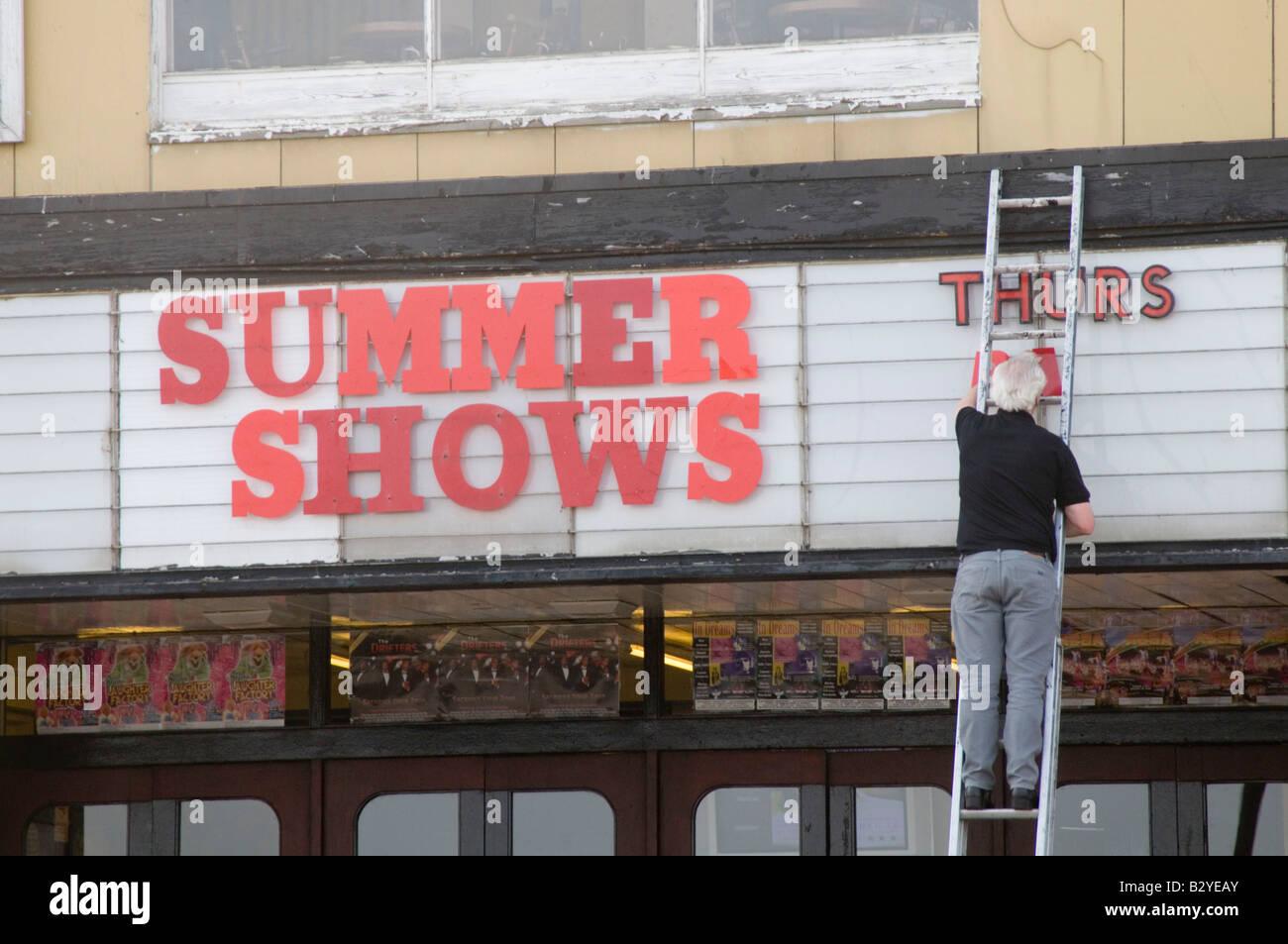 showbiz showbusiness summer season resort - Stock Image