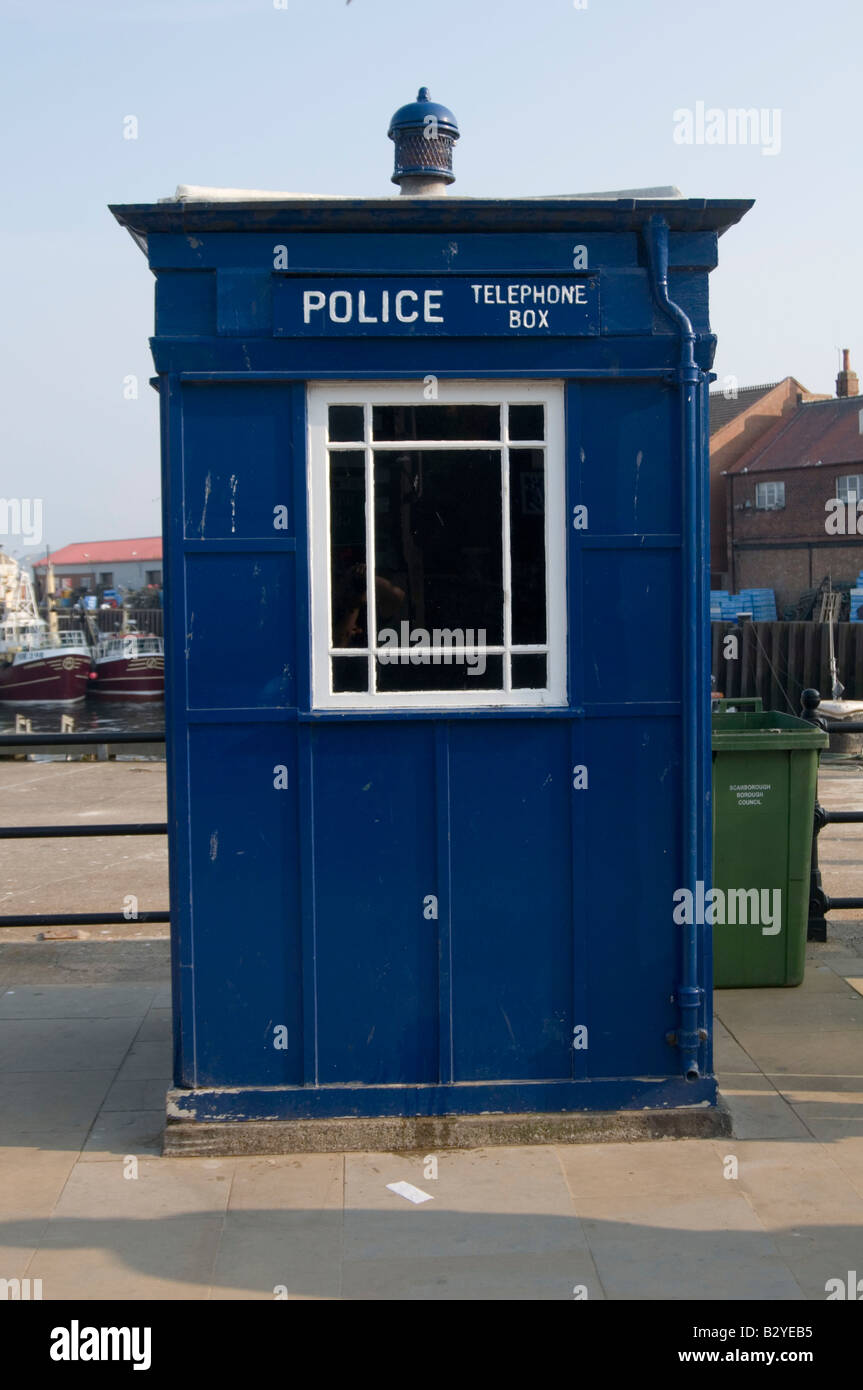 tardis doctor who police box british england - Stock Image