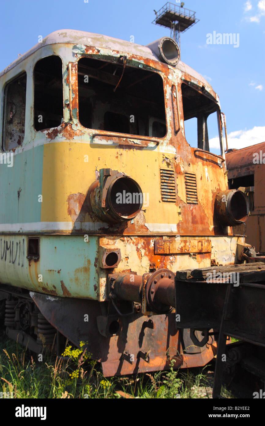 Abandoned old locomotive - Stock Image