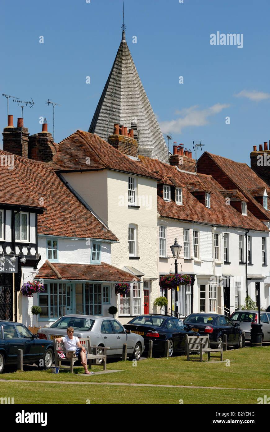 The Green, Westerham, Kent - Stock Image