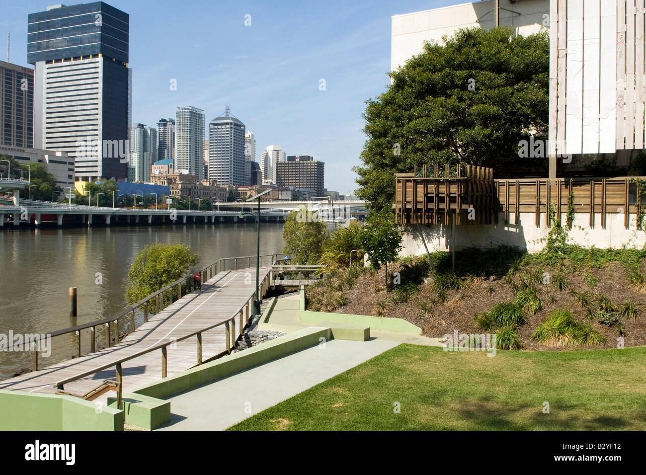Harmonious connections along the Brisbane River, Australia - Stock Image