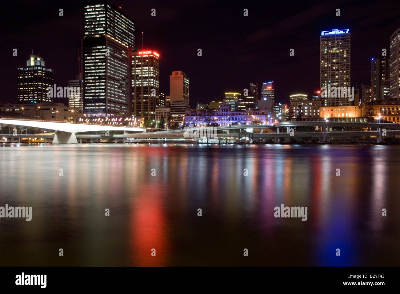 Rainbow of colours in the Brisbane River, Queensland, Australia - Stock Image