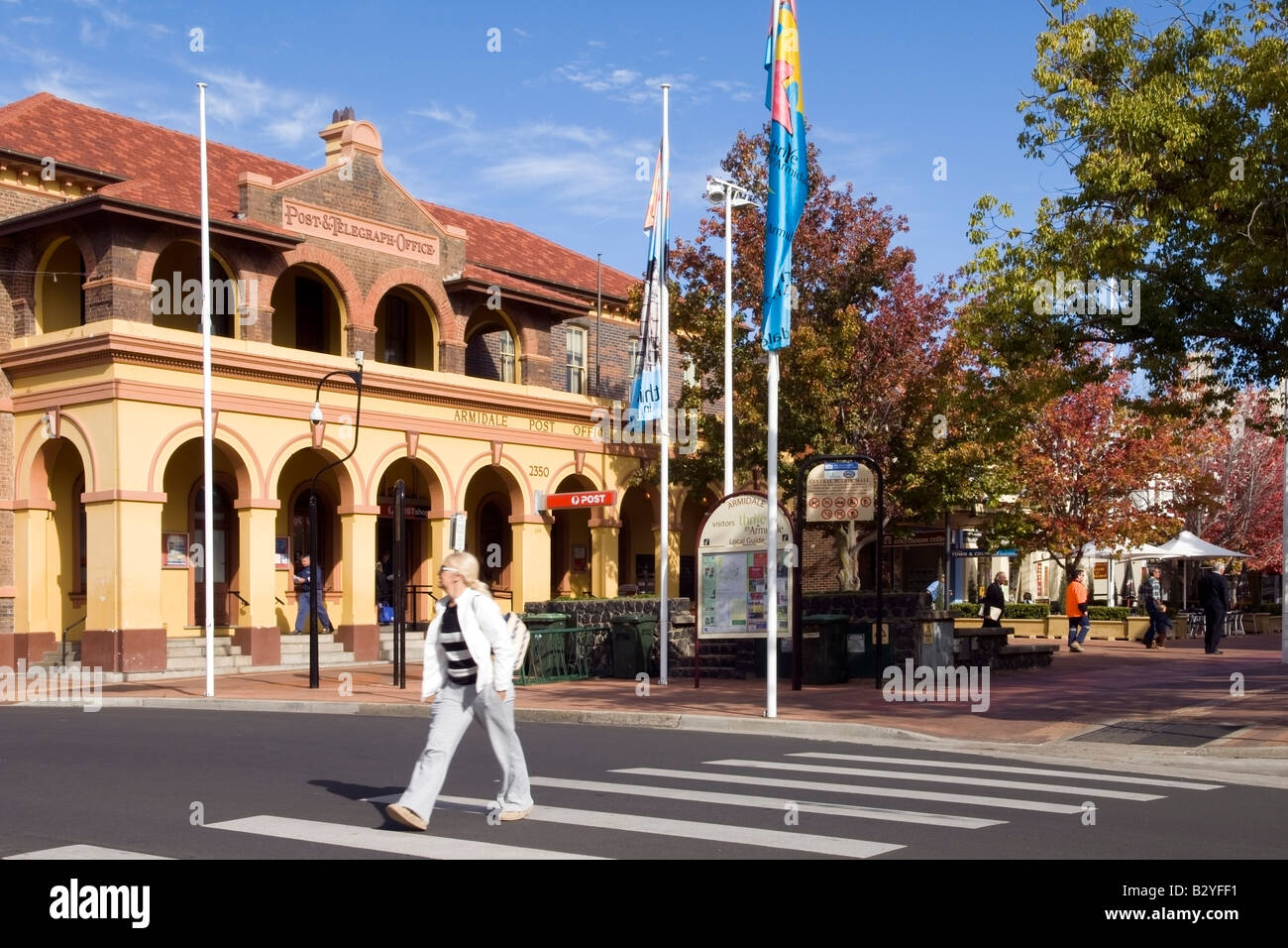 Attractive entrance to Armidale Civic Core, NSW, Australia - Stock Image
