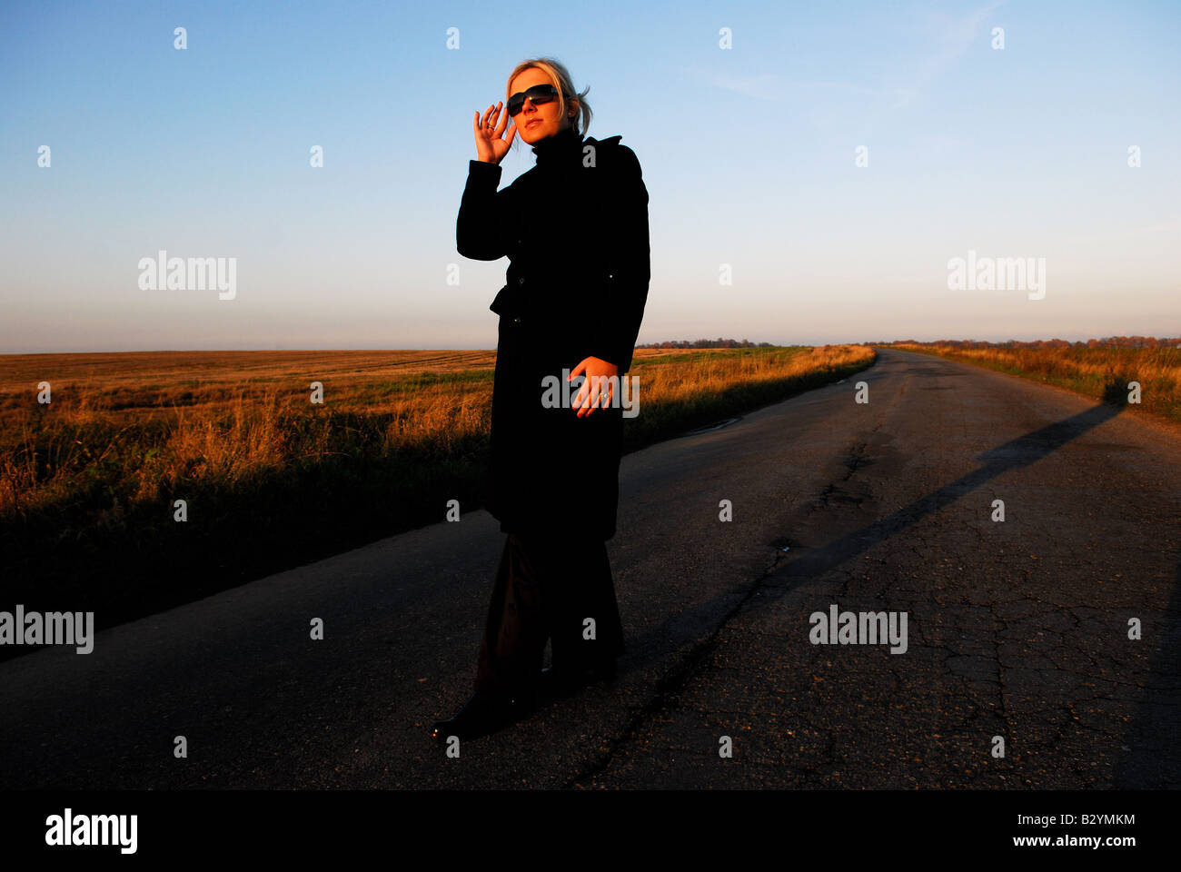 Buisness Women in the road - Stock Image
