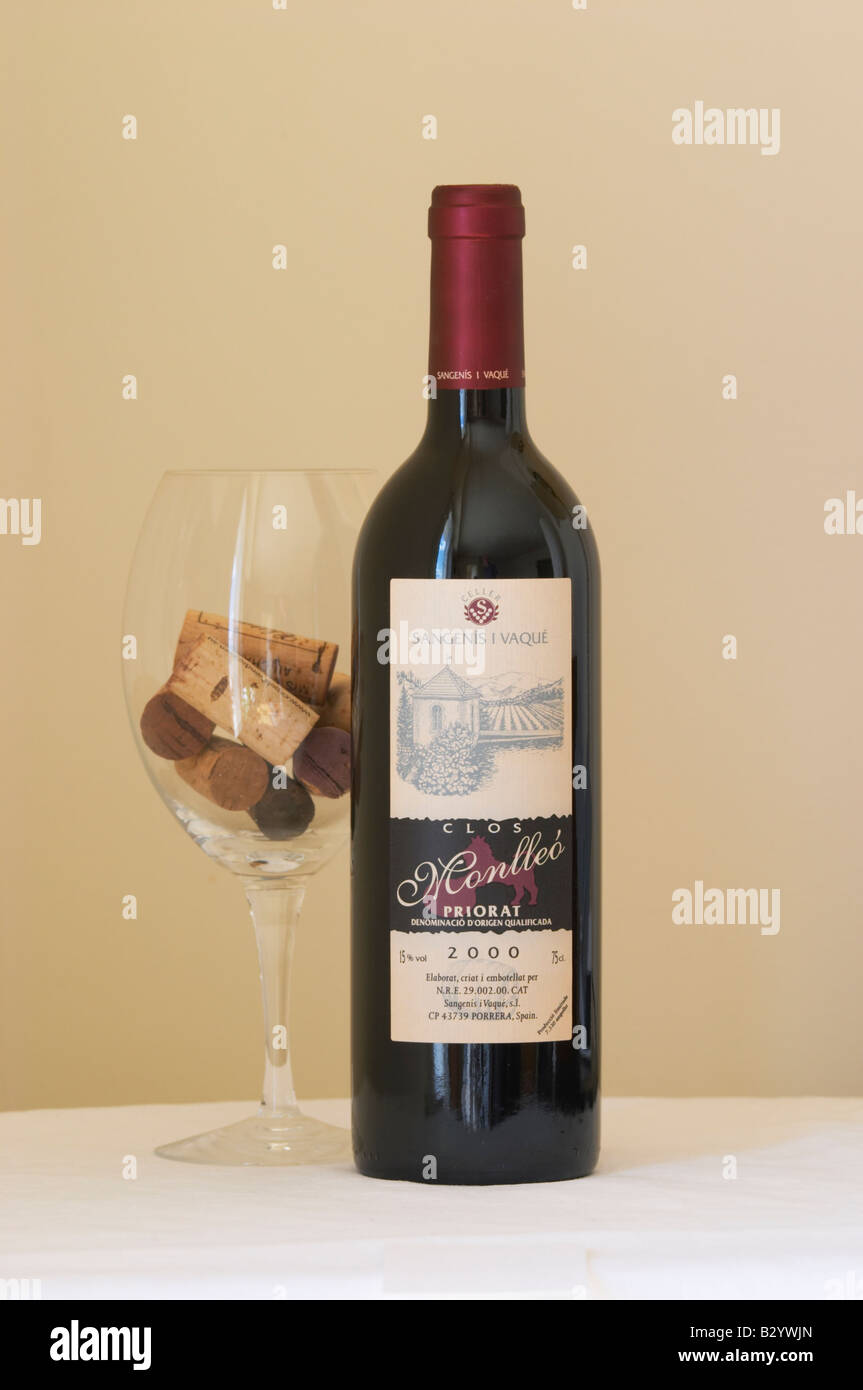 Celler Sangenis i Vaque, Monlleo 2000. Priorato, Catalonia, Spain. - Stock Image