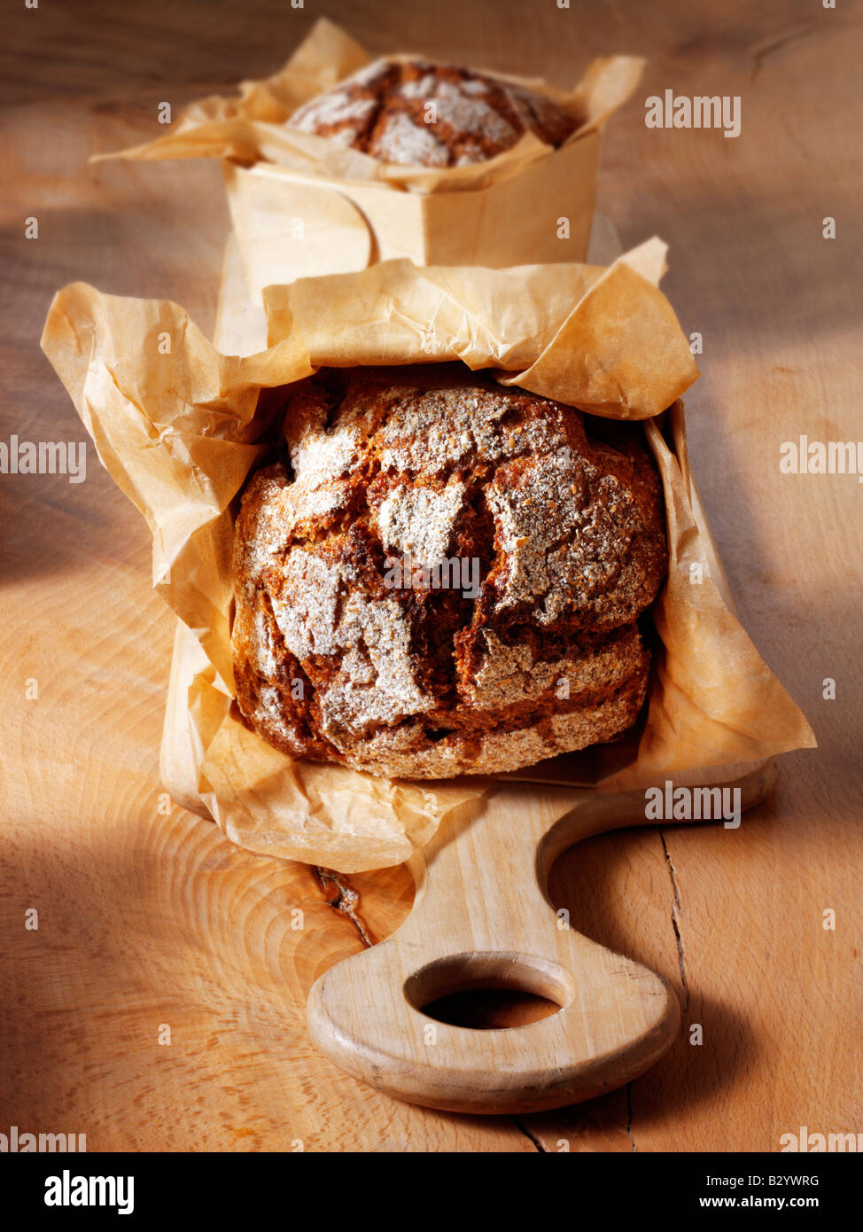 loaves of artisan Deli Rye bread - Stock Image