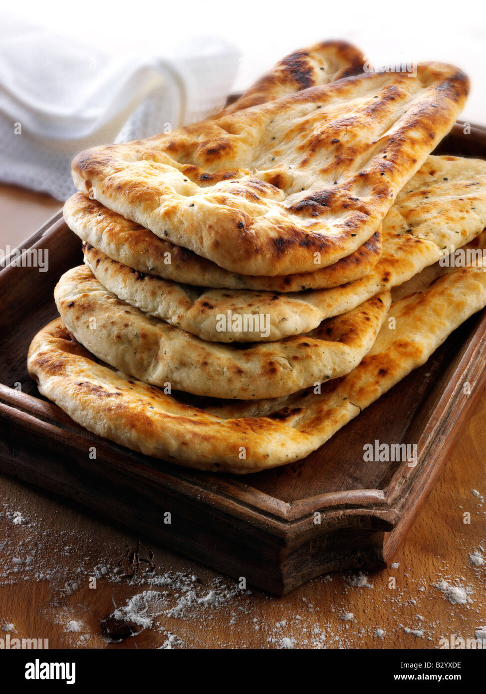 Indian Naan Bread - Stock Image