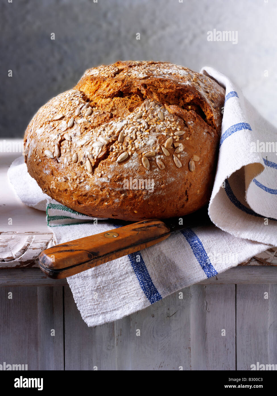 loaf of wholemeal bread - Stock Image