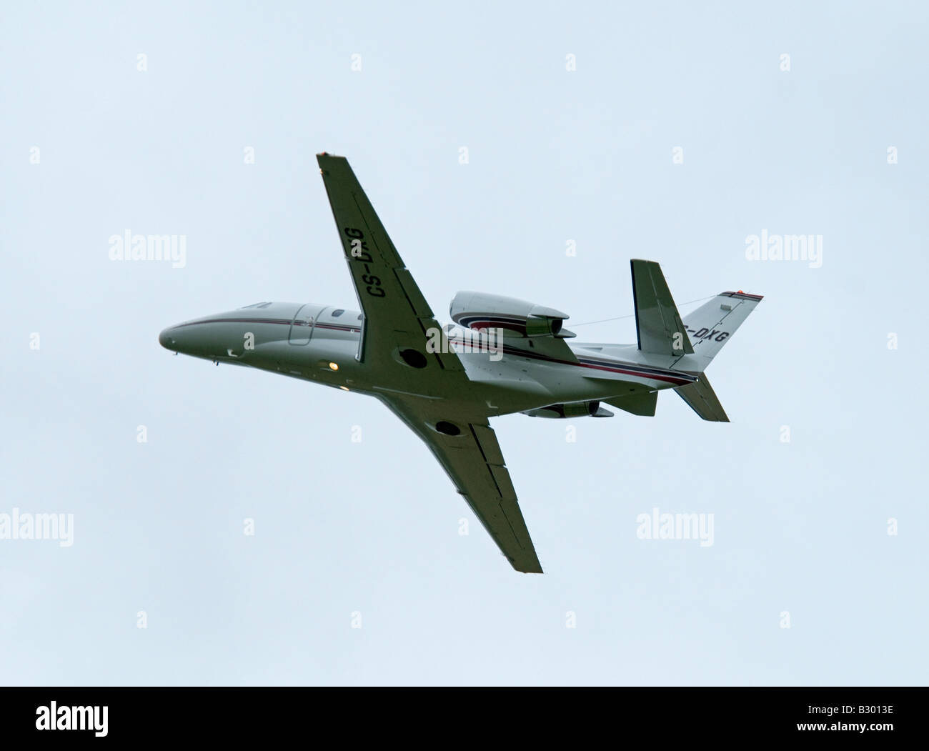 The Cessna Citation Excel (Model 560XL) Leaving Inverness Airfield - Stock Image