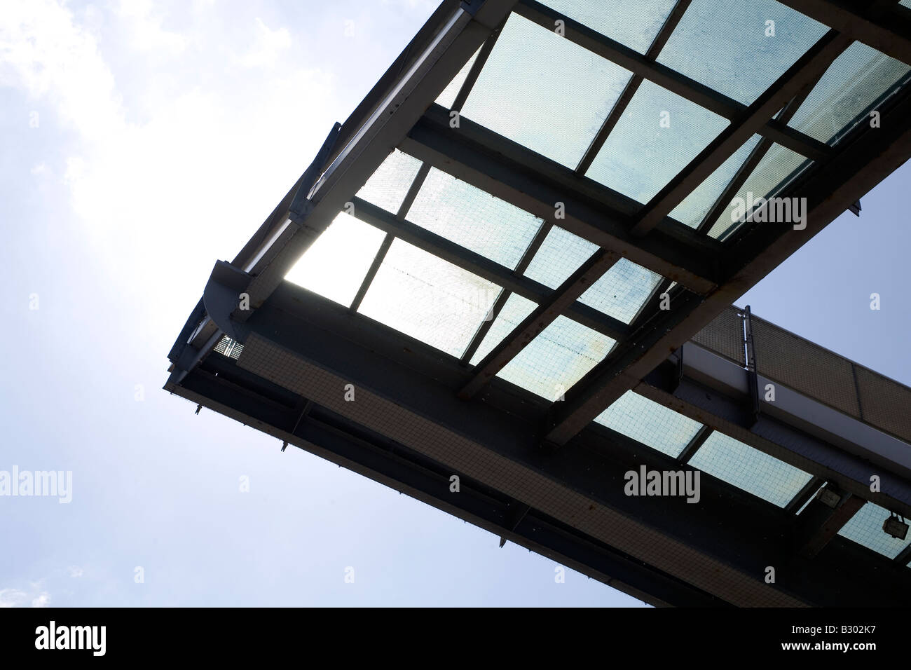 A detail from the glass roof of the National Glass Centre in Sunderland, England. The centre opened in 1998. - Stock Image